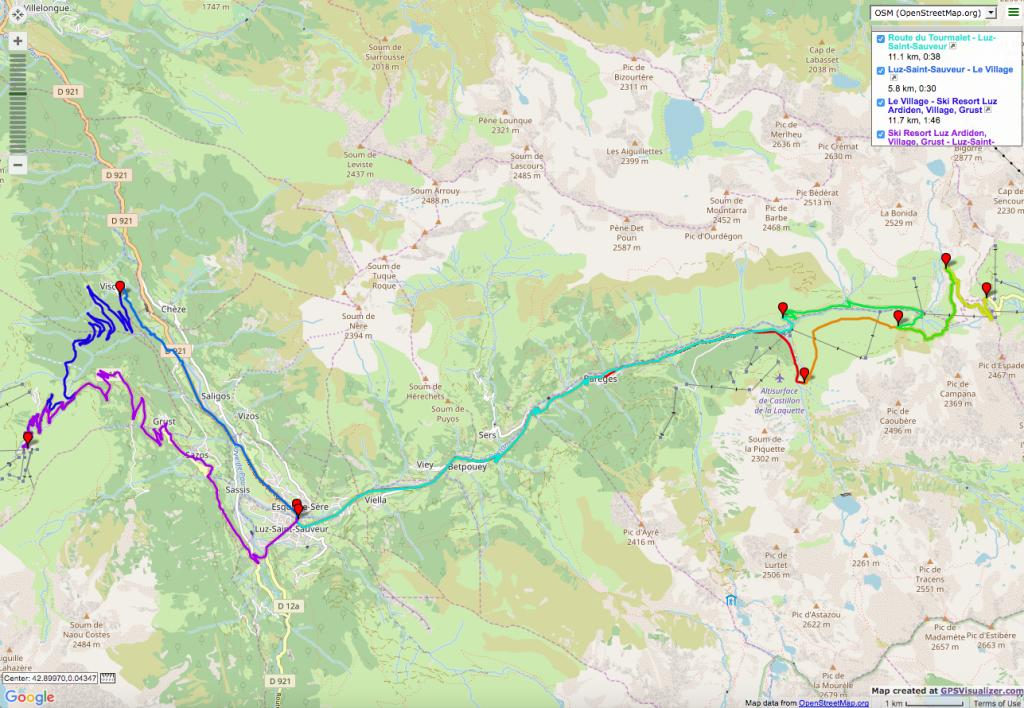 Tourmalet-Luz Ardiden Itinéraires vélo de route