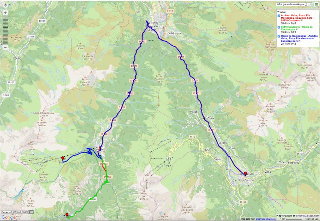 Luz St. Sauveur - Pont d'Espagne and le Cambasque Itinéraires vélo de route
