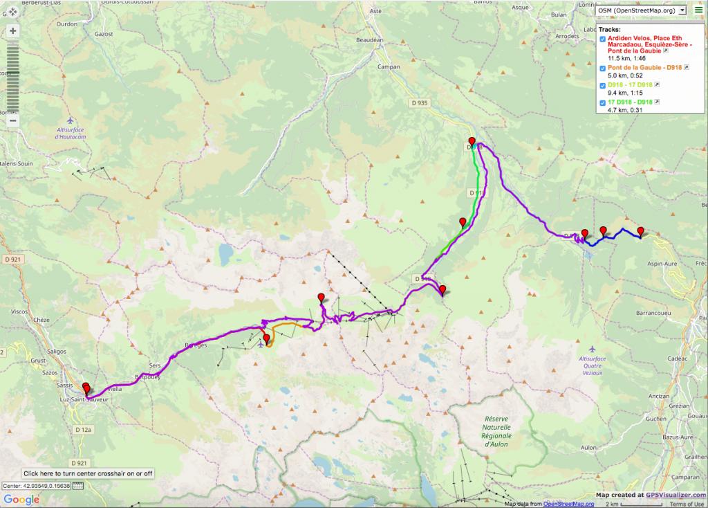 Col du Tourmalet and Aspin Itinéraires vélo de route
