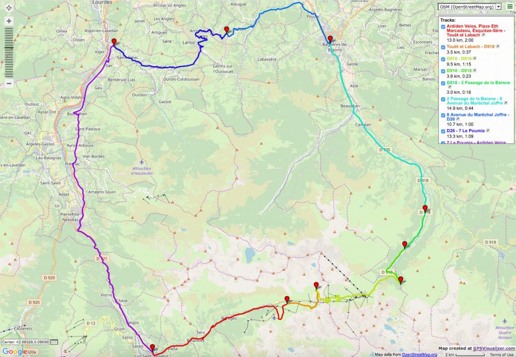 Col du Tourmalet Loop Itinéraires vélo de route