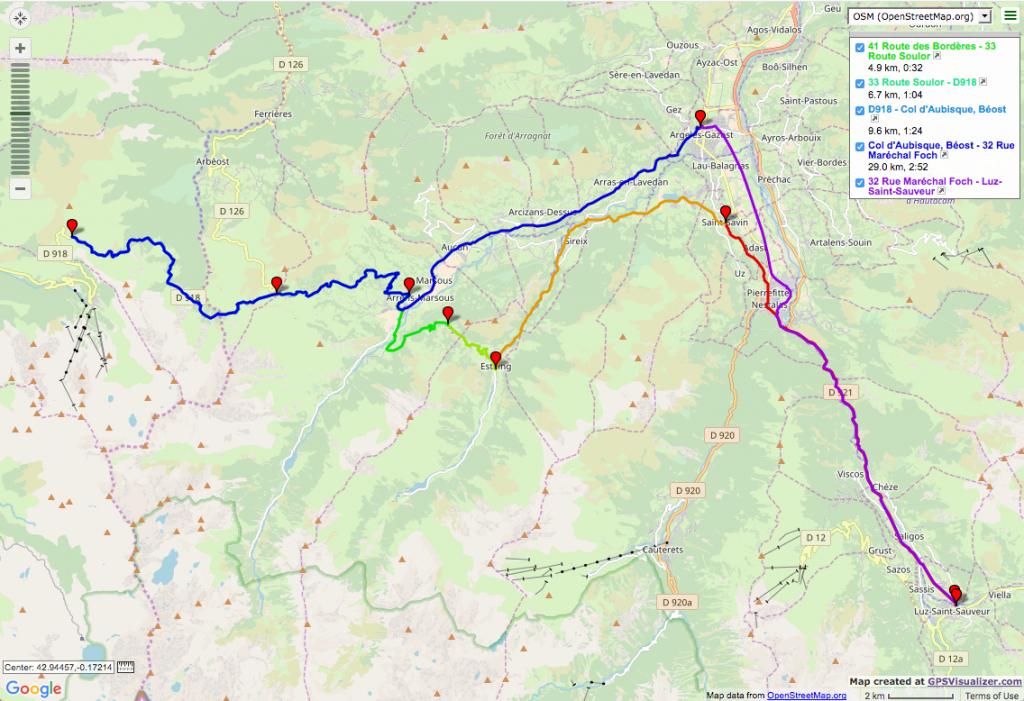 Col d'Aubisque et Col du Soulor Itinéraires vélo de route