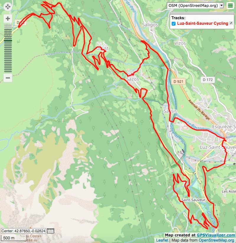 Luz Ardiden - Scooter loop Itinéraires de vélo électrique